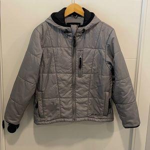 Eddie Bauer EGTEK winter gray puffer coat small